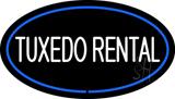 Tuxedo Rental Oval Blue LED Neon Sign