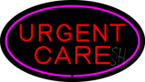 Urgent Care Oval Pink LED Neon Sign
