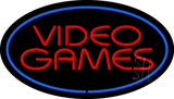 Video Games Oval Blue LED Neon Sign