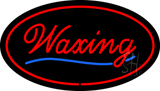 Waxing Oval Red LED Neon Sign