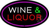 Wine and Liquor Oval Purple LED Neon Sign