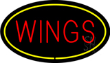 Wings Oval Yellow LED Neon Sign