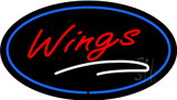 Oval Wings with Blue Border LED Neon Sign