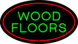 Wood Floors Oval Red LED Neon Sign