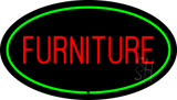 Furniture Oval Green LED Neon Sign