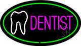 Pink Dentist Oval Green LED Neon Sign