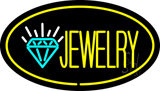 Jewelry Oval Yellow LED Neon Sign