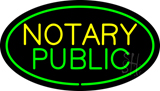 Oval Green Notary Public LED Neon Sign