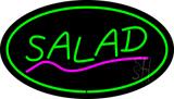 Green Salad Green Border LED Neon Sign