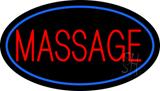 Oval Red Massage Blue Border LED Neon Sign