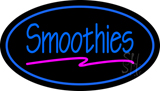 Oval Blue Smoothies LED Neon Sign