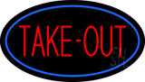 Take-Out Oval LED Neon Sign