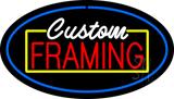 Custom Framing Blue Oval LED Neon Sign
