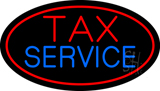 Oval Tax Service LED Neon Sign