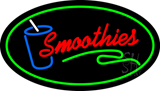Oval Red Smoothies with Green Border LED Neon Sign