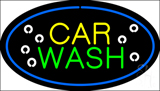 Car Wash Blue Oval LED Neon Sign