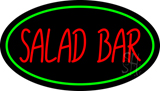 Green Border and Red Salad Bar LED Neon Sign