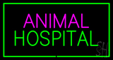 Animal Hospital Green Rectangle LED Neon Sign