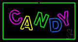 Candy Rectangle Green LED Neon Sign