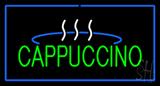 Cappuccino Logo Rectangle Blue LED Neon Sign