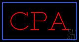 CPA Rectangle Blue LED Neon Sign