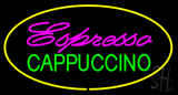 Espresso Cappuccino Oval Yellow LED Neon Sign