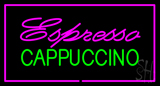 Pink Espresso Cappuccino Rectangle Pink LED Neon Sign