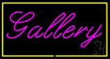 Purple Gallery Yellow Rectangle LED Neon Sign