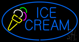 Oval Blue Ice Cream LED Neon Sign