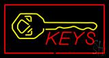 Keys Logo Rectangle Red LED Neon Sign
