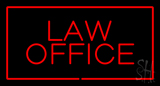 Red Law Office Red Border LED Neon Sign
