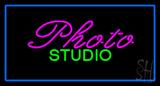 Photo Studio Blue Rectangle LED Neon Sign