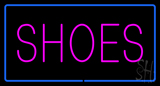 Shoes Rectangle Blue LED Neon Sign