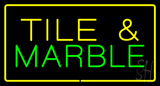 Tile and Marble Rectangle Yellow LED Neon Sign