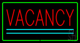 Vacancy Rectangle Green LED Neon Sign