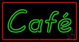 Cafe Rectangle Red LED Neon Sign