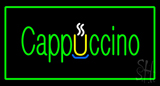 Cappuccino Rectangle Green LED Neon Sign