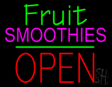Fruit Smoothies Block Open Green Line LED Neon Sign