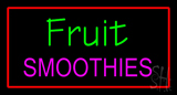 Fruit Smoothies with Red Border LED Neon Sign