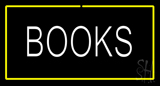 Books Yellow Border LED Neon Sign
