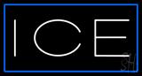 White Ice Blue Border LED Neon Sign
