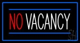 No Vacancy Rectangle Blue LED Neon Sign