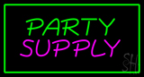 Party Supply Green Rectangle Neon Sign