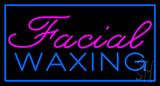 Facial Waxing Rectangle Blue LED Neon Sign