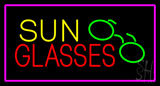 Sun Glasses with Pink Border LED Neon Sign