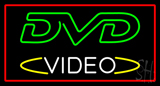 DVD Video Rectangle Red LED Neon Sign