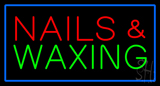Red Nails and Waxing Green with Blue Border LED Neon Sign