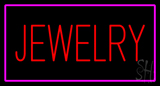 Jewelry Rectangle Purple LED Neon Sign