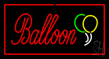 Balloon Rectangle Red LED Neon Sign