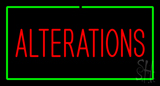 Red Alterations Green Border LED Neon Sign